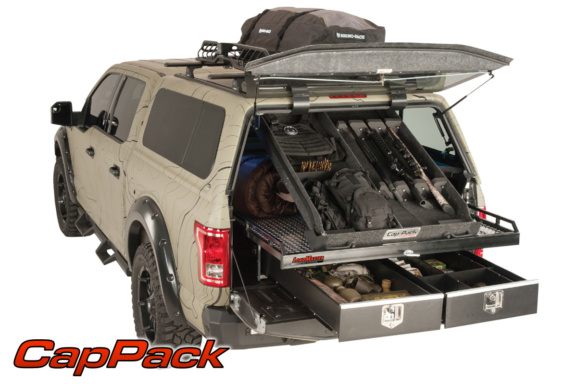overhead storage space for a truck cap