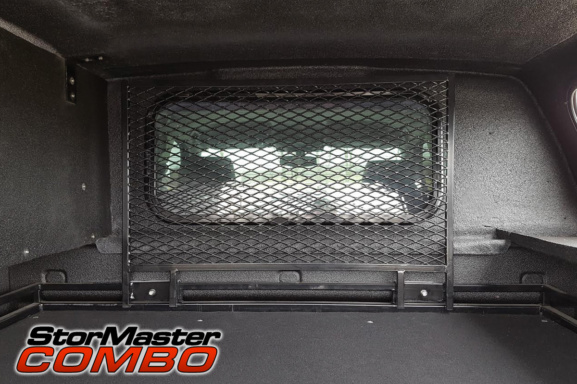 Stormaster Combo bulkhead mesh gate for the rear window of your pickup truck