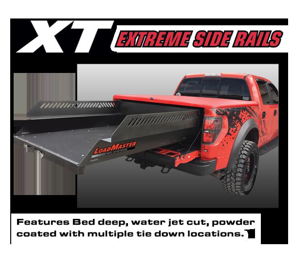 Loadmaster XT extreme side rails powder coated cargo slide